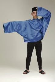 Steel Blue Oversized Baju Behati