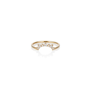 Sunrise Diamond Ring