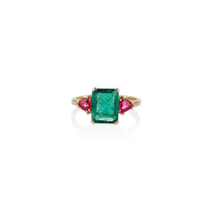 Empress Emerald Ring - Charlie and Marcelle