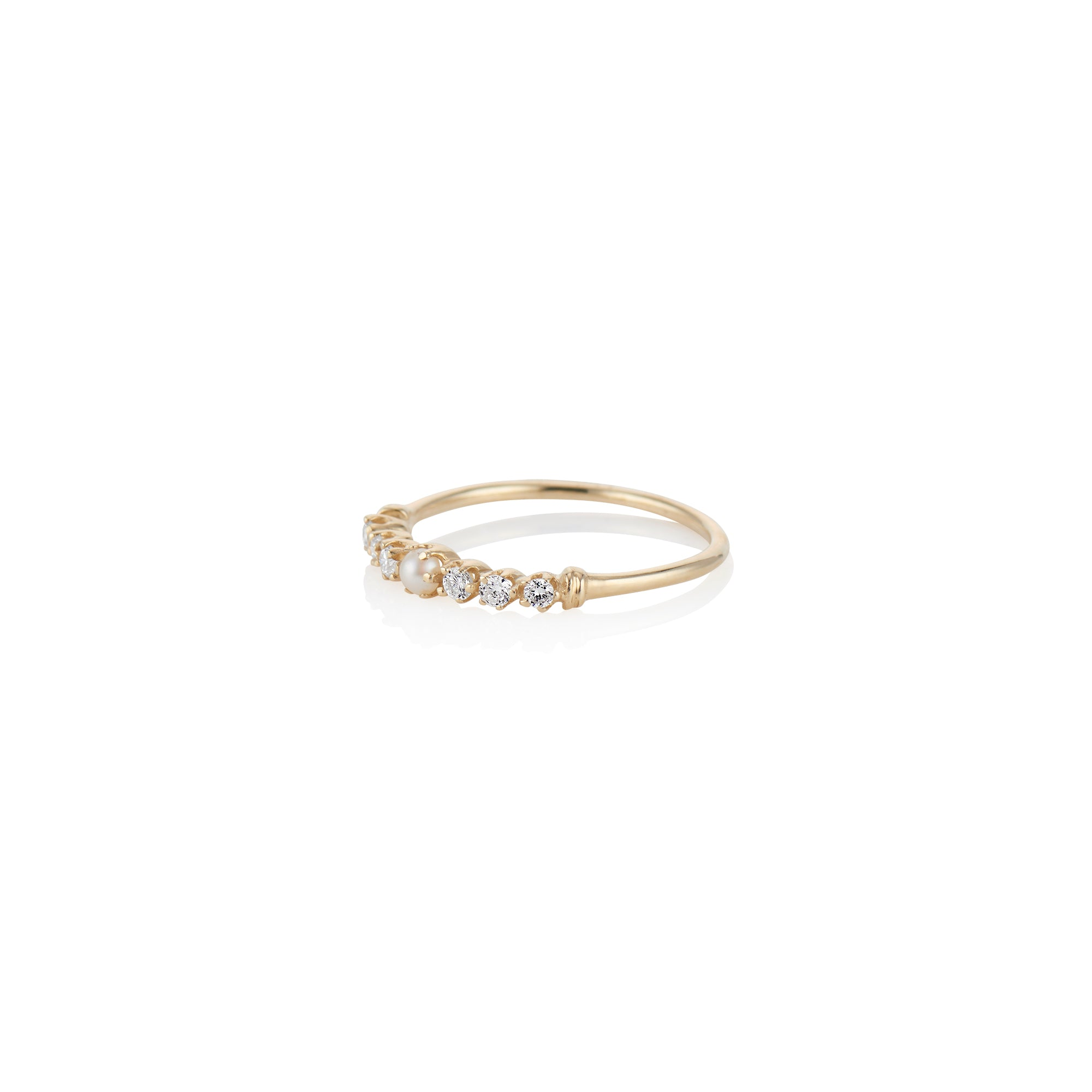 Twinkle Pearl And Diamond Ring - Charlie and Marcelle