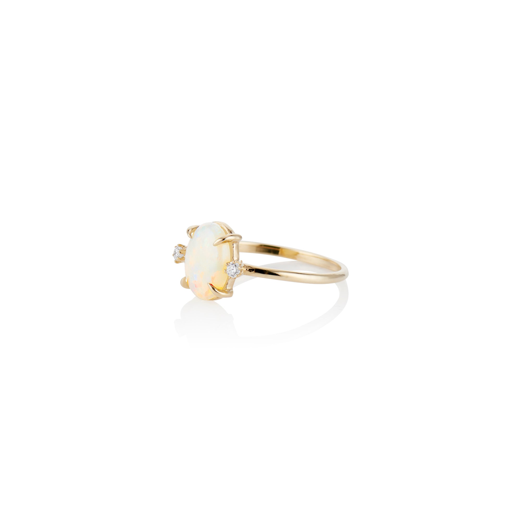 Classic Opal and Diamond Ring - Charlie and Marcelle