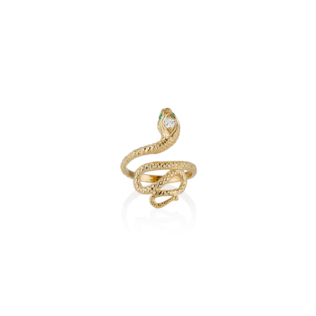 Golden Serpent Ring - Charlie and Marcelle