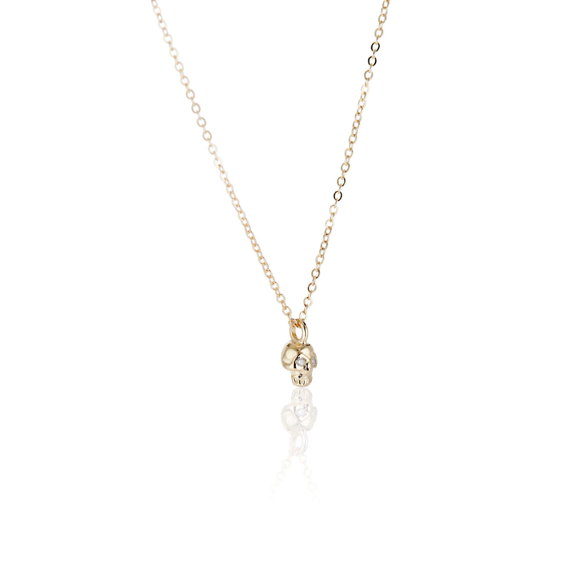 Teensy Memento Mori Skull Necklace - Charlie and Marcelle