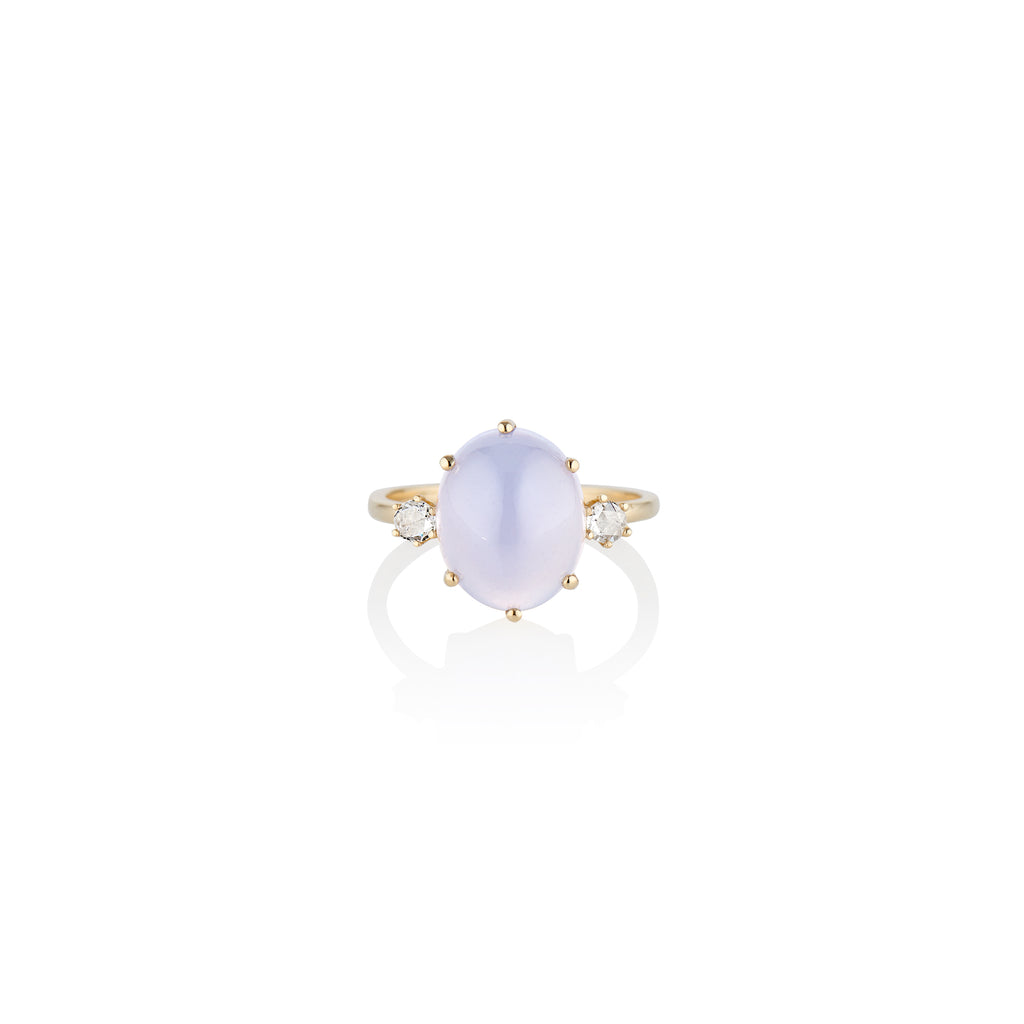 Magic Chalcedony Ring