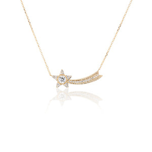 Diamond Shooting Star Necklace - Charlie and Marcelle