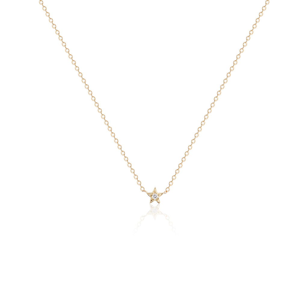 Teeny Tiny Wishing Star Necklace - Charlie and Marcelle