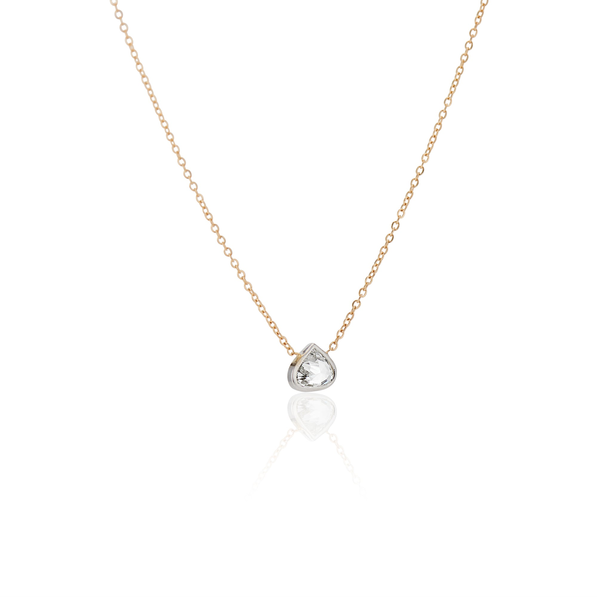 Heavenly Diamond Bezel Necklace