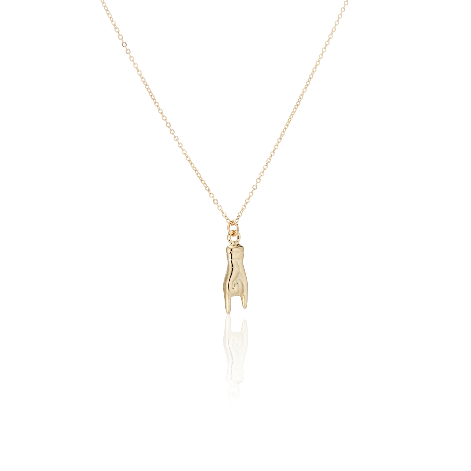 Golden Mano Cornuto Necklace - Charlie and Marcelle