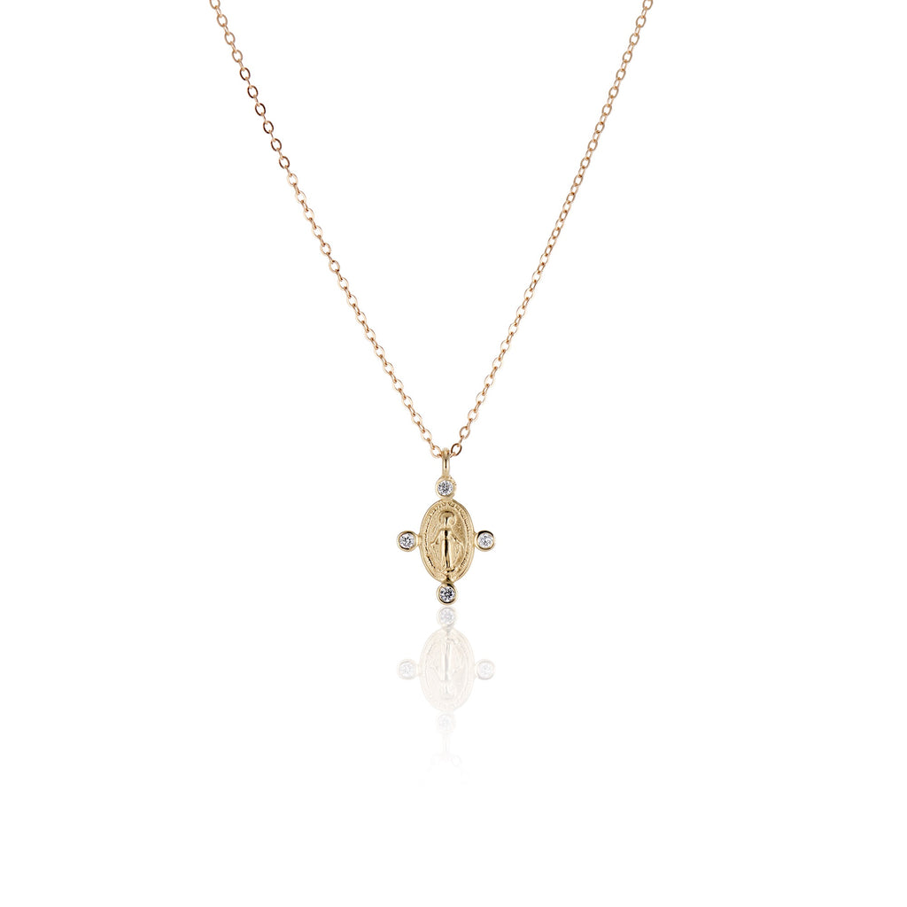 Mother Mary Diamond Necklace - Charlie and Marcelle