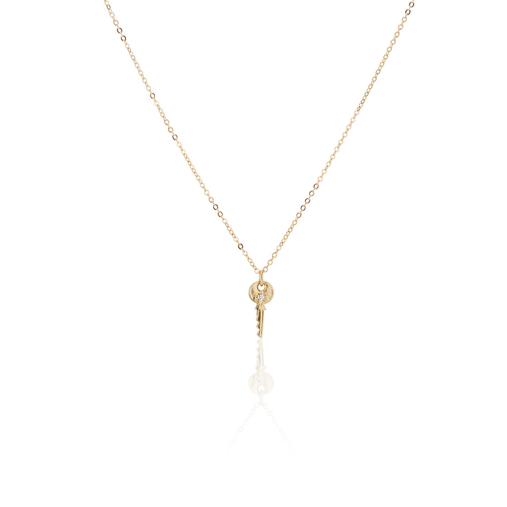 Littlest Skeleton Key Necklace - Charlie and Marcelle