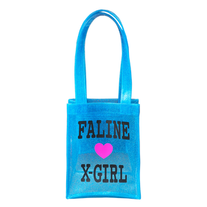 X-girl × FALINE MINI TOTE BAG (LTBLUE)