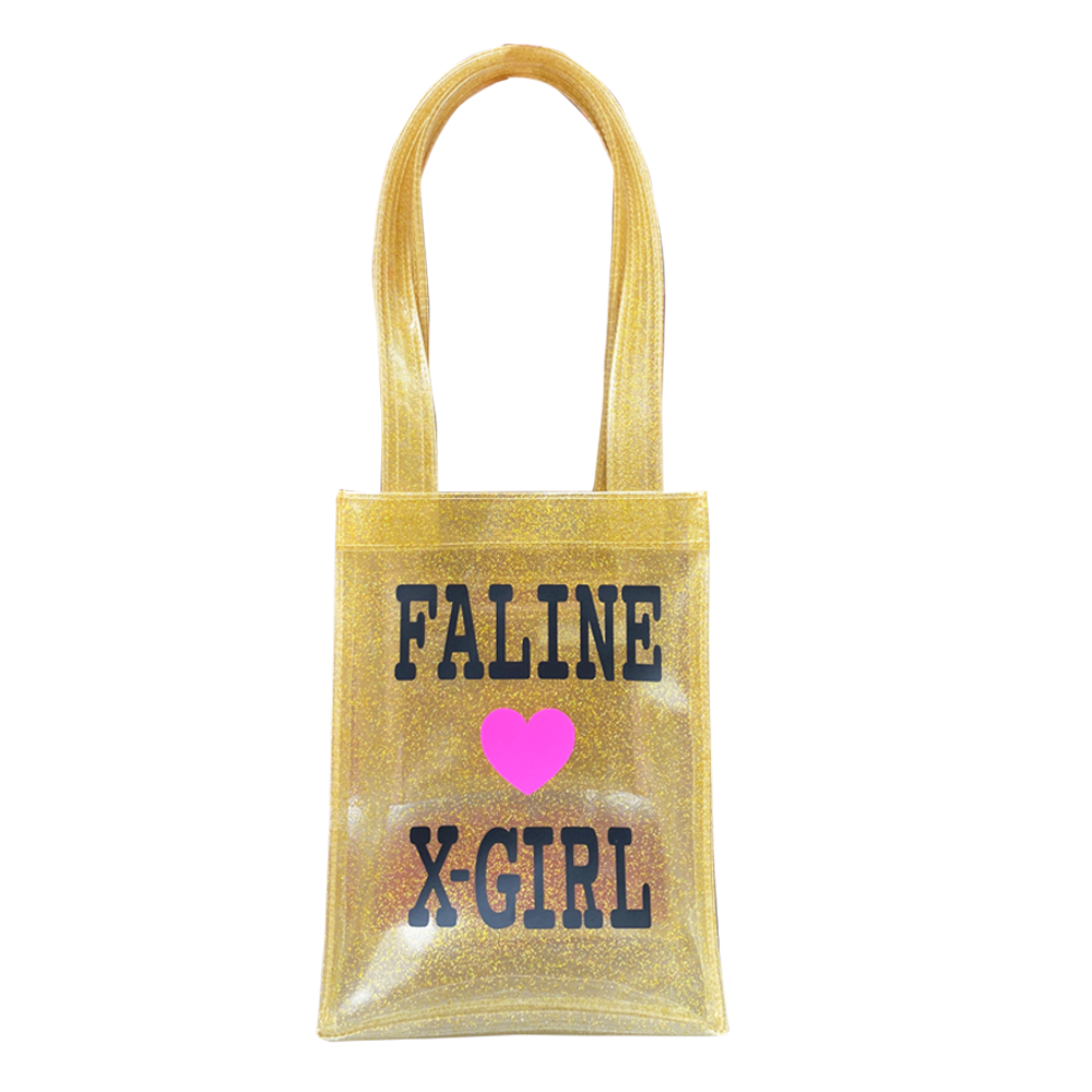 X-girl × FALINE MINI TOTE BAG (GOLD)