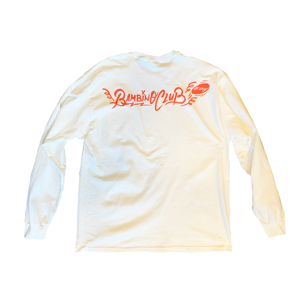 André Bambino Pocket LS Tee (White×Pink)
