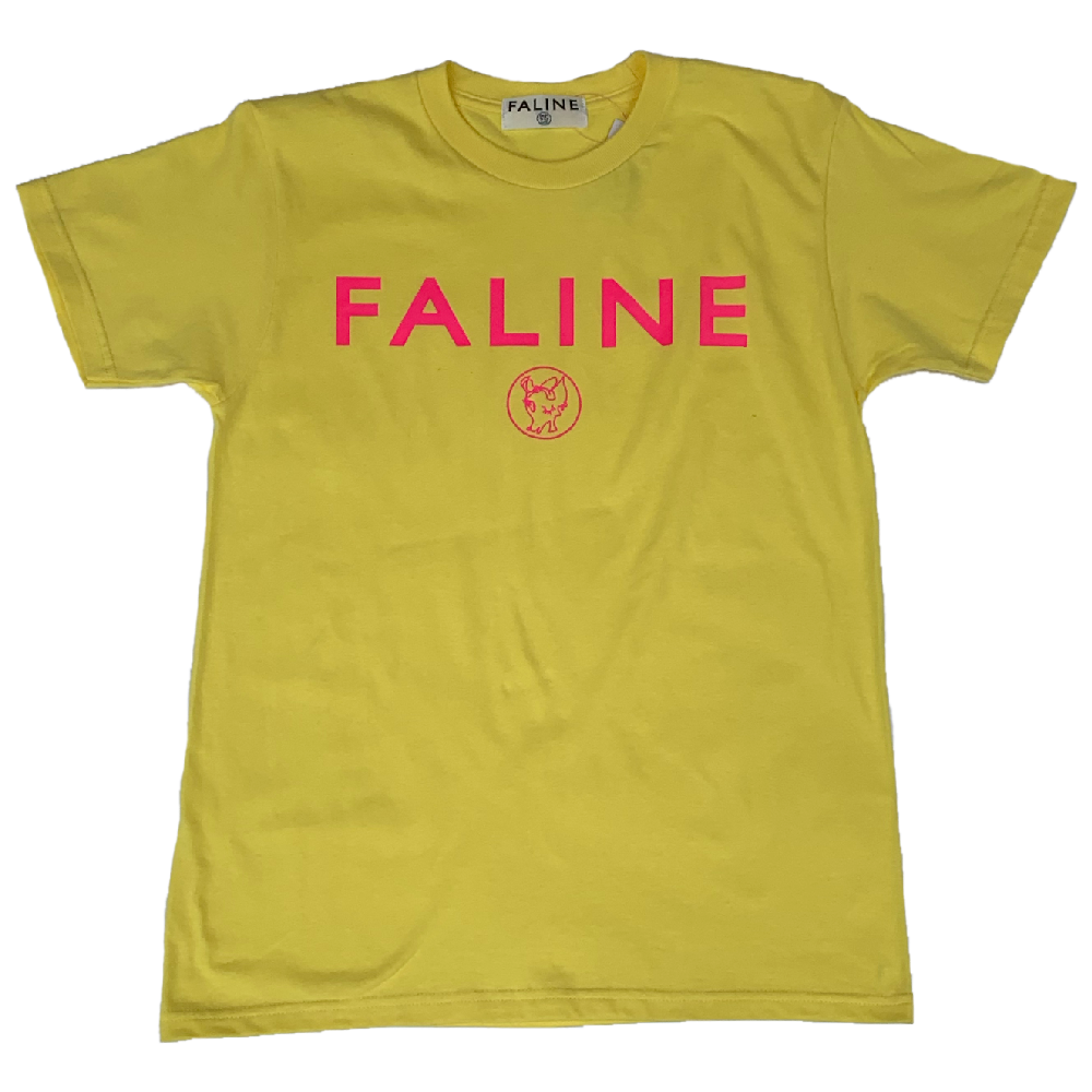 Faline logo charity Tee  (Yellow )