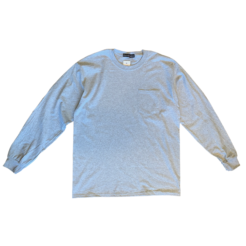 André Bambino Pocket LS Tee (Grey×Blue)