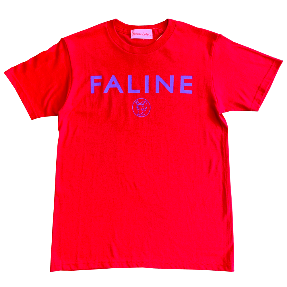 Faline logo charity Tee  (Red)