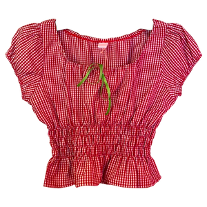 Fifi chachnil Babymary Top Red Gingham