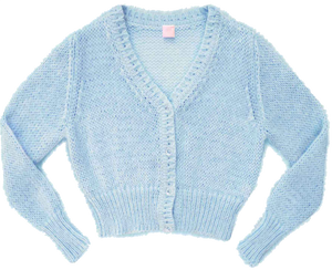 Fifi chachnil angora cardigan (light blue)