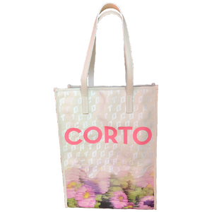 Corto moltedo Shopper tote (Faded flowers)