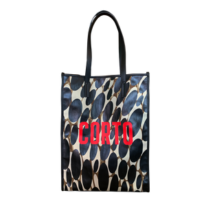 Corto moltedo Shopper tote new Luxor gold red