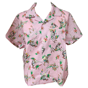 X-girl x FALINE GIRLS ALOHA SHIRT (Pink)