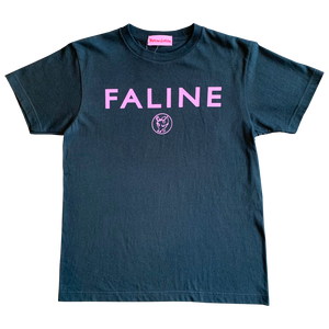 Faline logo charity Tee  (Smoke black)