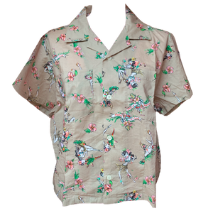 X-girl x FALINE GIRLS ALOHA SHIRT (Beige)