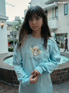 FALINE♡いがらしゆみこ Long T-shirt(Light blue)