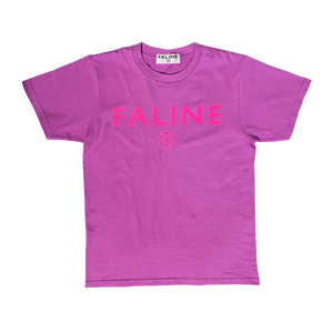 Faline logo charity tee  (Purple )