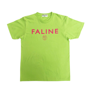 Faline logo charity Tee  (Light green )