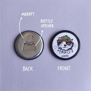 Mrauu Fridge Magnet-Bottle Opener