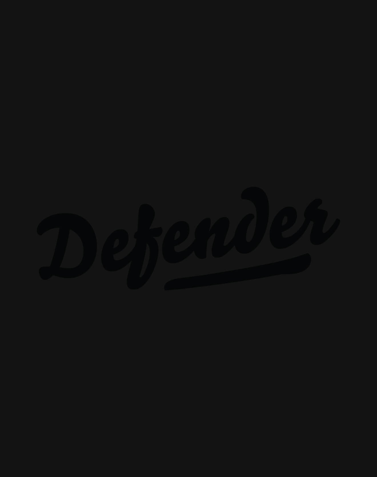 Defender Black Foil Sueded T-Shirt