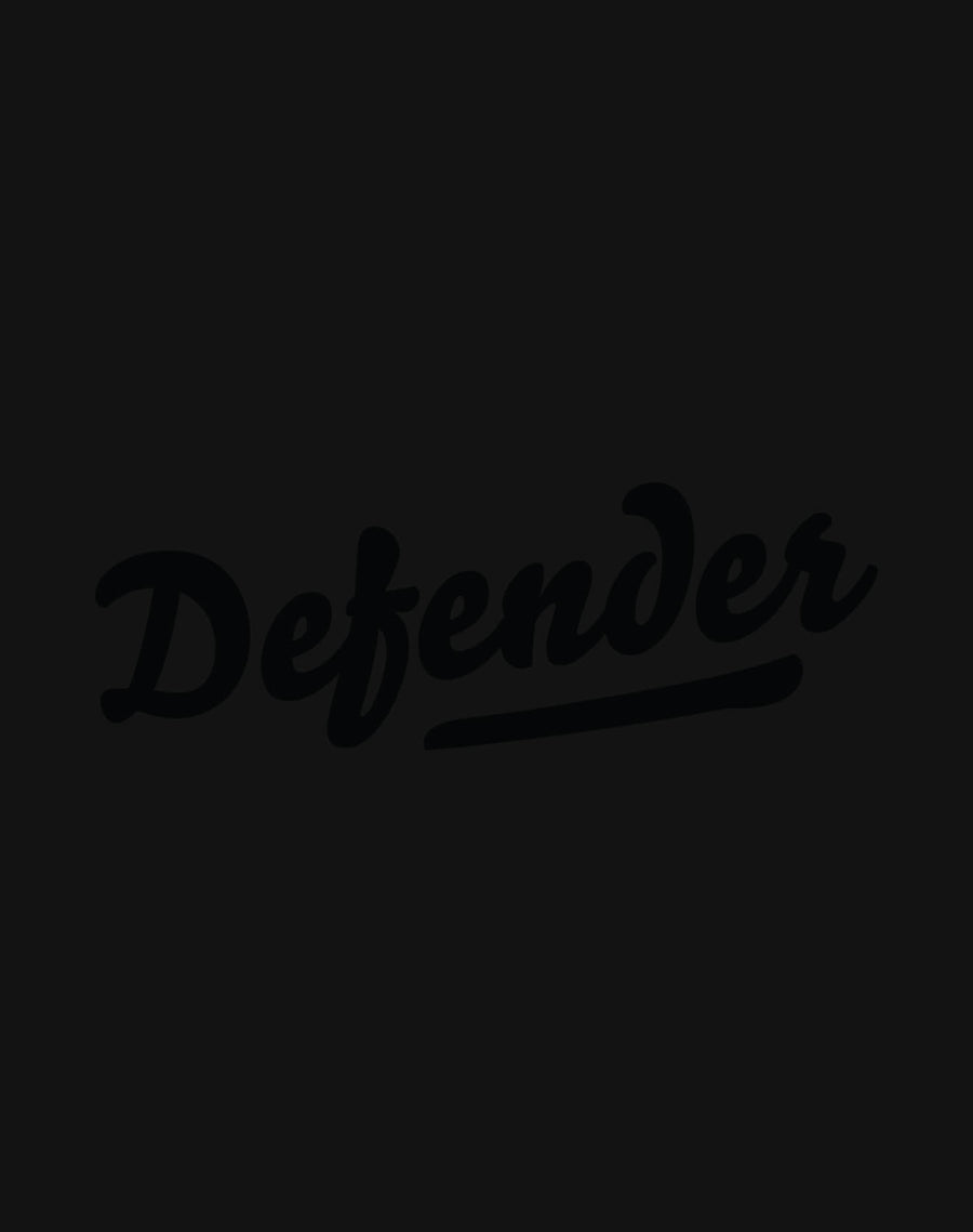 Defend Innocence Defender Unisex Black Foil Tee