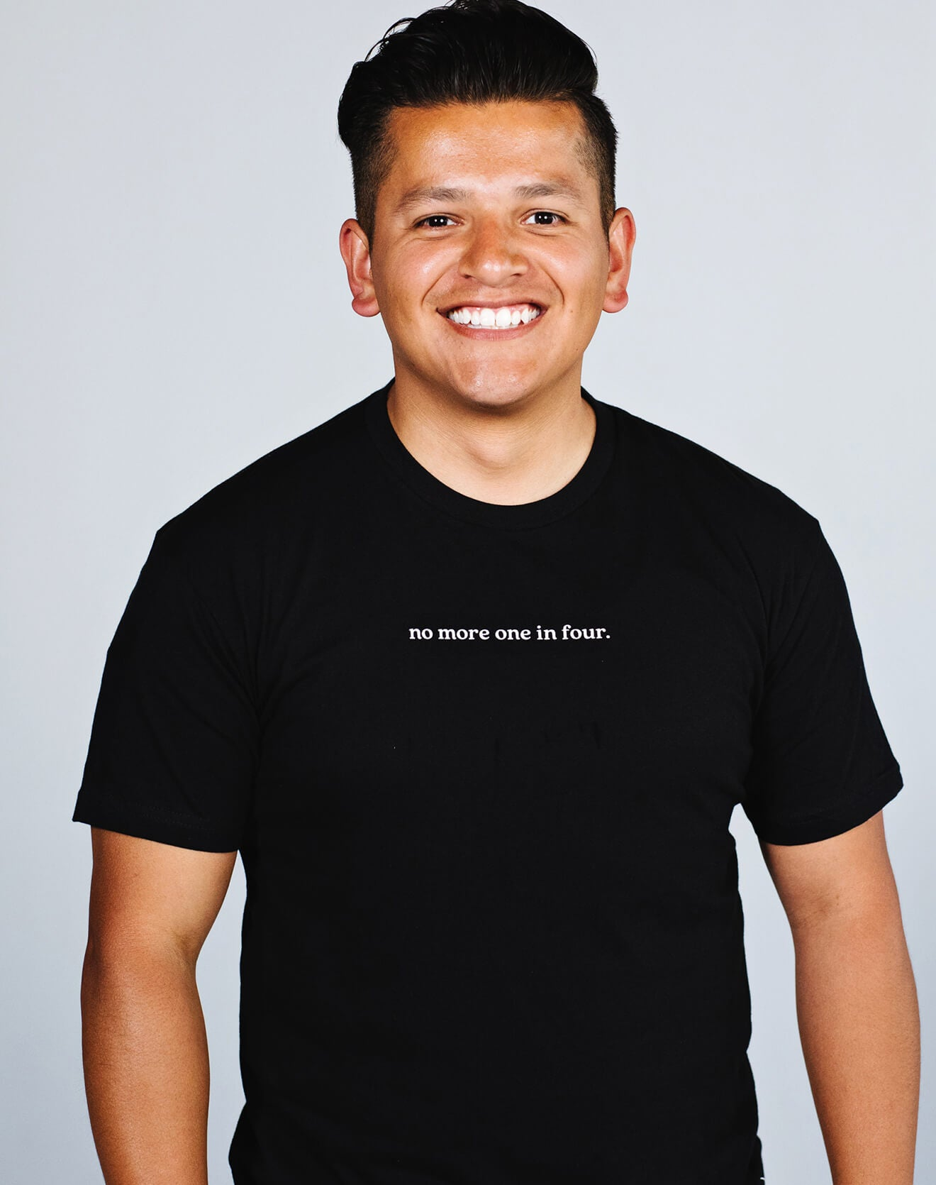 Black Unisex No More One In Four T-Shirt