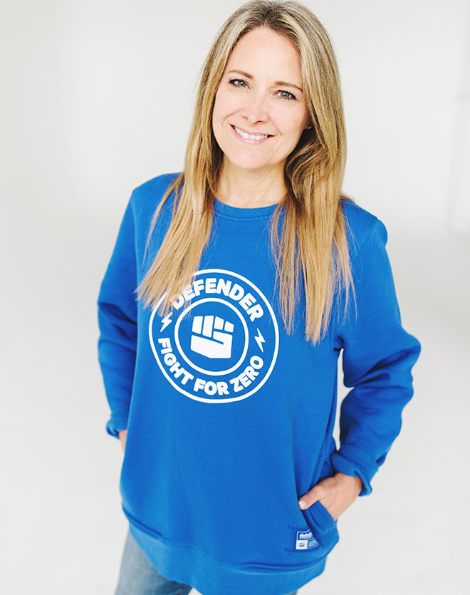 Fight for Zero—Royal Blue Unisex Defender Sweatshirt
