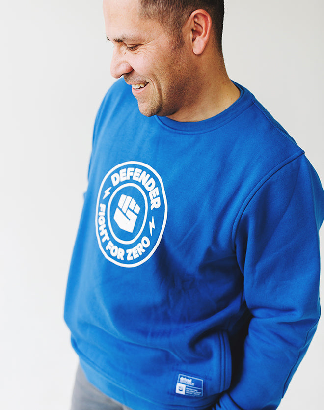 Defend Innocence Fight for Zero Unisex Royal Blue Sweatshirt