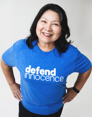Defend Innocence Unisex Royal Blue Tee - S, L, 2XL, 3XL