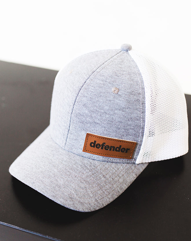 Defend Innocence Grey/White Defender Hat
