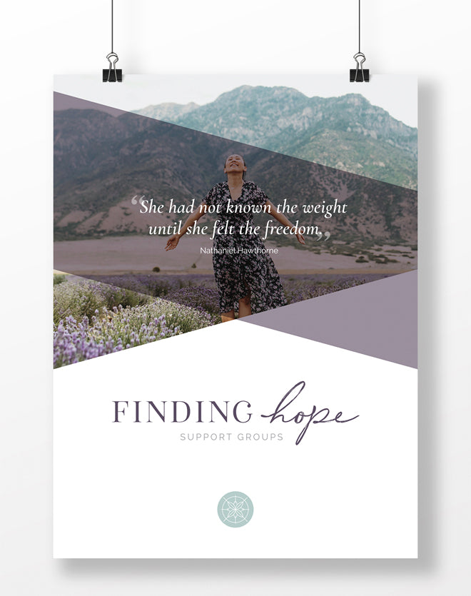Finding Hope Support Group Posters (Group of 5)