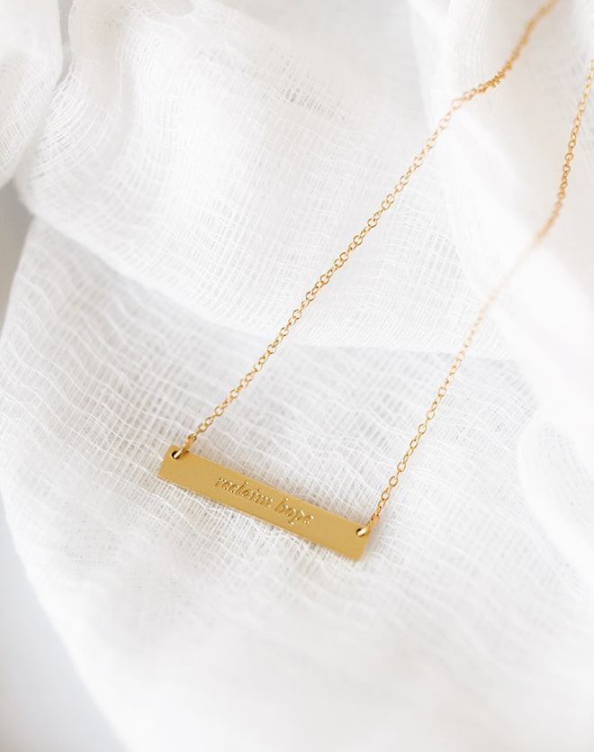"""Reclaim Hope"" Gold Bar Necklace"