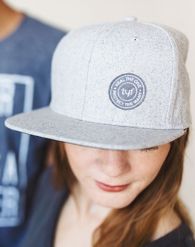 TYF Heal The One Heather Grey Baseball Cap