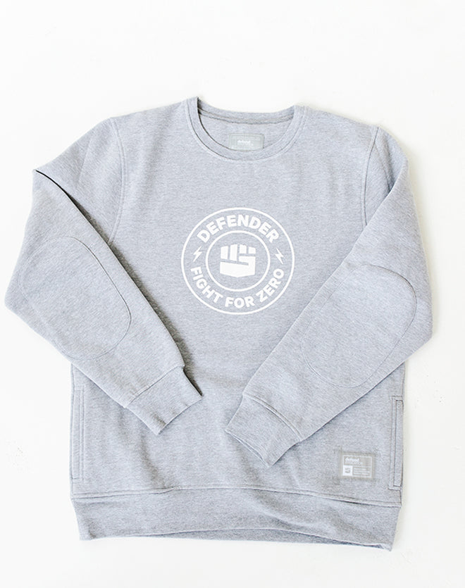 Defend Innocence Fight for Zero Unisex Heather Gray Sweatshirt