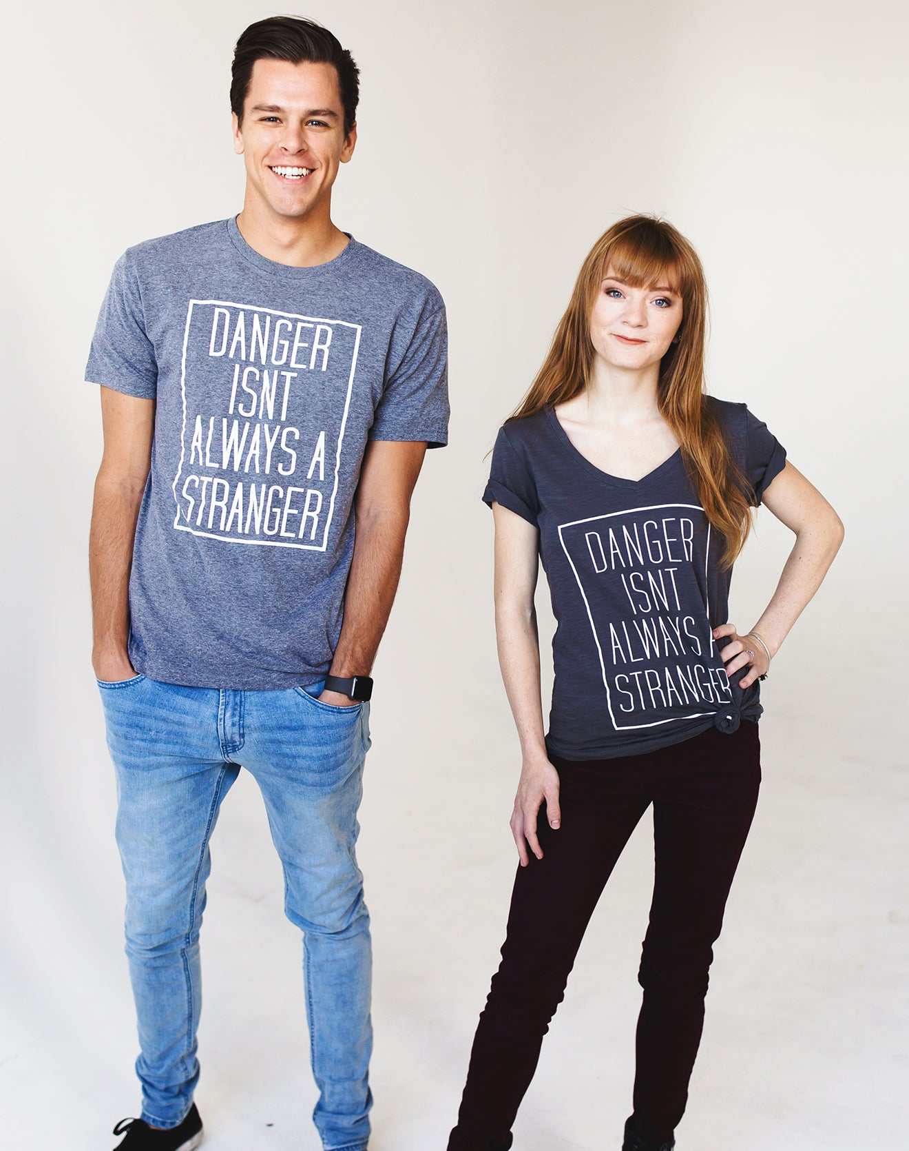 Men's Gray Tee - Danger Isn't Always a Stranger