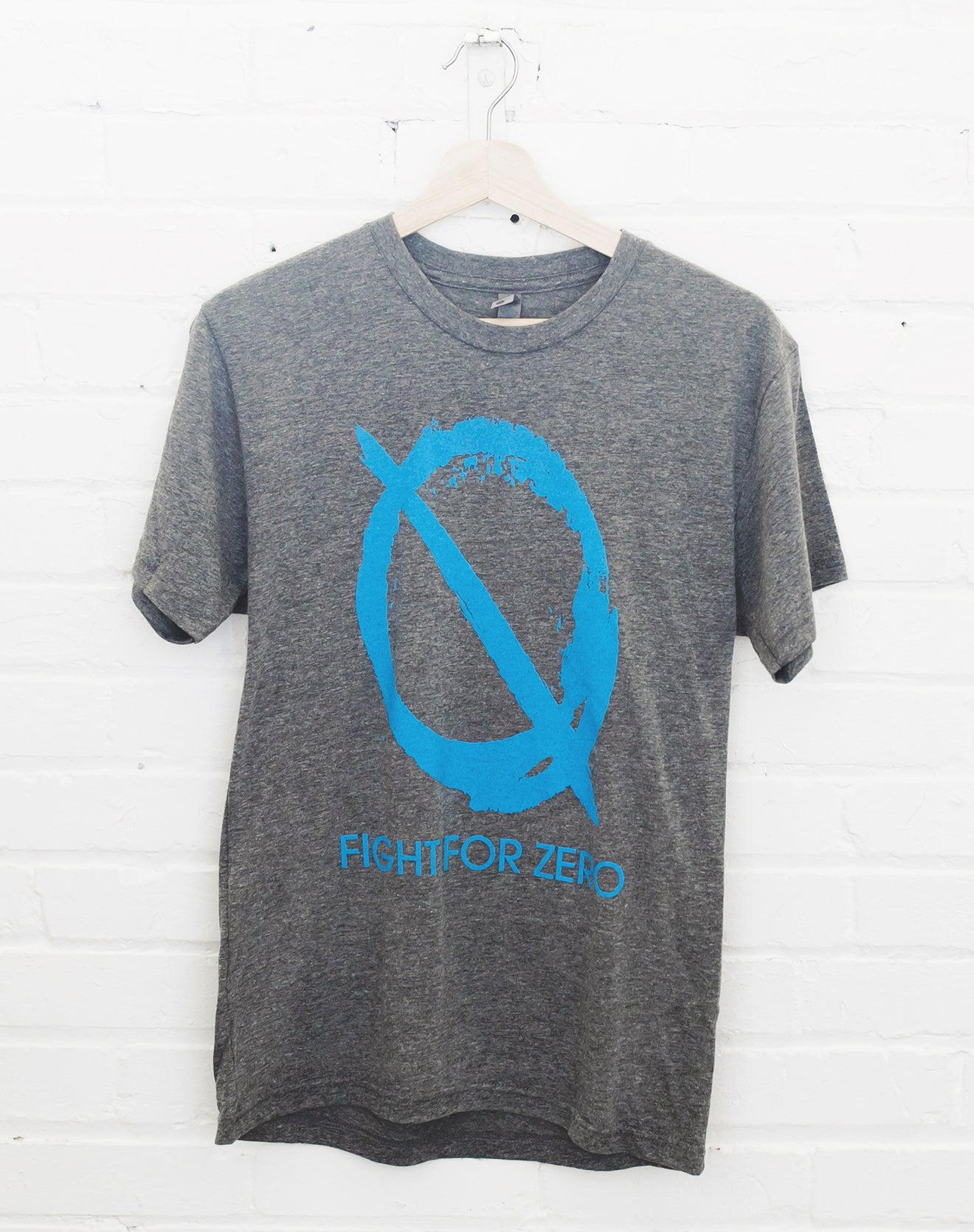 Men's Gray Tee - Fight for Zero