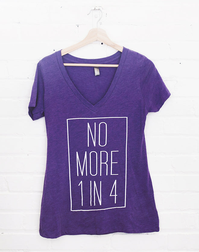Women's No More 1 in 4 Tee