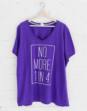 TYF No More 1 in 4 Plus Size Tee - 1X, 2X