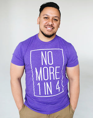 TYF No More 1 in 4 Unisex Purple Tee