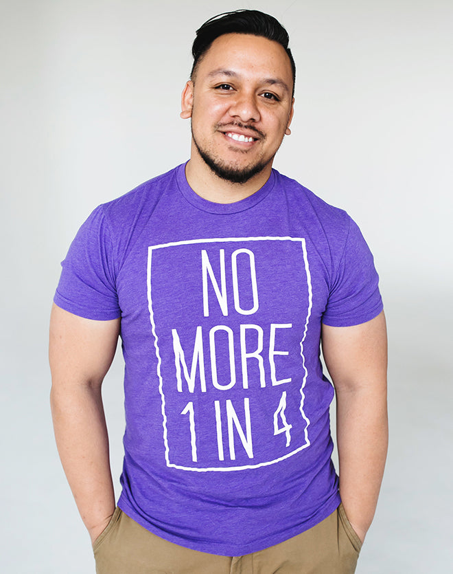 TYF No More 1 in 4 Unisex Purple Tee - S, XL, 2XL