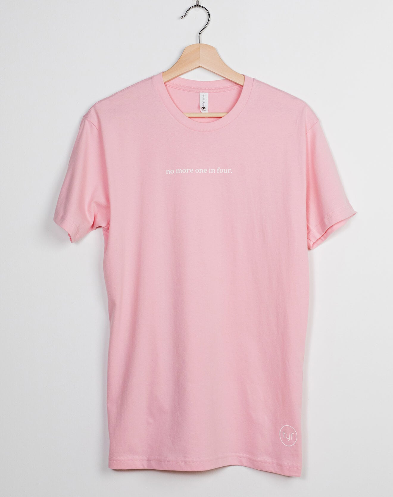 Pink Unisex No More One In Four T-Shirt