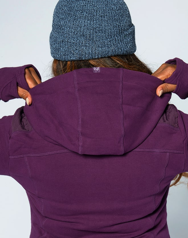 TYF Purple Hooded Jacket